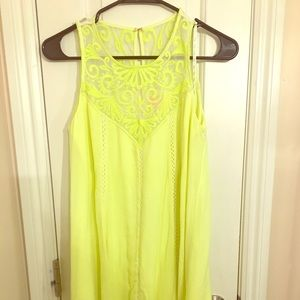Lilly Pulitzer Neon Green Lace Flowy Dress